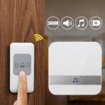 Оригинал CACAZI A9 Smart Home DoorBell 300m Дистанционный Беспроводной дверной звонок AC 52 Кольца Дверной звонок