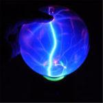Оригинал 5 дюймов USB Плазменный шар сферический свет Кристальный свет Волшебный Стол Лампа Новинка Bule Light Home Decor