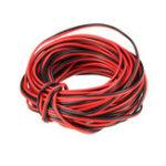 Оригинал 3PCS LUSTREON 10M Tinned Медь 22AWG 2 Pin Красный Черный DIY Электрический кабель PVC Провод для LED Полоски