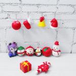 Оригинал 12PCS / Lot Рождественский Squishy пакет Soft Медленный рост с коробкой подарка