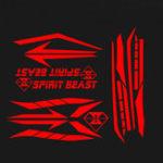 Оригинал SPIRIT BEAST мотоцикл Наклейка Отражающая Водонепроницаемы Декоративная для Honda CB190R
