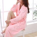 Оригинал Soft Замороженный Коралловый Руна Homewear Lace-up Sleepwear