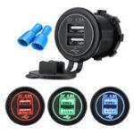 Оригинал 4.8A Dual USB Авто Зарядное устройство 2 порт LCD Дисплей 12V / 24V Универсальная зарядка для телефона