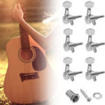 Оригинал Хромированный гитарный гитарный бас-гитарный штырь 6 Встроенный 2-х контактный замок Ключи настройки Периферийные тюнеры