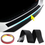 Оригинал 104см ПВХ резины Задний бампер Sill Protector Пластина Обложка Guard Pad Формование для VW / Audi / BMW внедорожник
