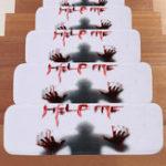 Оригинал 66.5*23смХэллоуинДизайн Лестничная площадка Anti-Slip Carpet Kitchen Ванная комната Коврик для пола