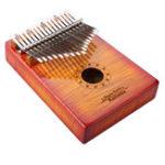 Оригинал GECKO MC-S 17 Ключи Kalimba Кудрявый кленовый лес Thumb Piano Finger With Tune Hammer Carry Сумка