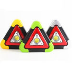 Оригинал COB+LED4ModesUSBперезаряжаемый Солнечная Power Triangle Warming Light Фонарик Work Light