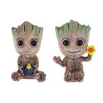 Оригинал Mini Groot Tree Shape Аквариум Fish Tank Decor Oxygen Насос Air Bubble Stone Air Насос Драйвер Fish Tank Toy Аквариум Декоративный декор