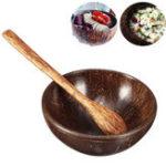 Оригинал ПриродныеКокосShellBowlиSpoon Handmade Handcraft Резная посуда Подарочная чаша для риса