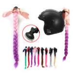 Оригинал мотоцикл Градиентные шлемы для шлема для панков Punk Style Twist Braid Волосы Pigtail Ponytail
