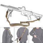 Оригинал ВоенныйNylonРегулируемаятактическаядвойнаяштыревая рейка Веревка Ремень для принадлежностей CS Gun