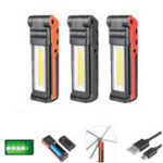 Оригинал LUSTREON 5W + 3W + 3W USB перезаряжаемый портативный COB LED Работа Кемпинг Light Magnetic Dimming Flashlight