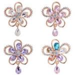Оригинал Элегантная хрустальная цветочная брошь Colorful Аксессуары для ювелирных украшений для шарфа для нее
