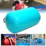 Оригинал 105×90смНадувнойгимнастическийвоздушныйрулонныйлуч Yoga Гимнастический цилиндр Airtrack Упражнение Column Training Air Mat
