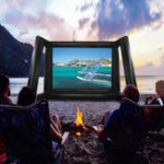Оригинал 8x6m 26ftx20ft 16: 9 Надувной фильм проецирования Дисплей Экран Home Backyard Theatre