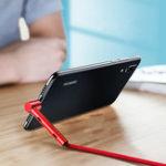 Оригинал ROCK Type C Кронштейн Stand Holder Быстрый зарядный кабель для передачи данных 1.2M для Oneplus 6 Xiaomi Mi8 Pocophone F1