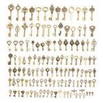 Оригинал 128Pcs Винтаж Бронзовый ключ для браслета ожерелья Кулон DIY Украшения ручной работы