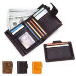 Оригинал МужчиныRFIDПротивоугонныеустройстваНатуральнаяКожа 16-карточный слот-кошелек
