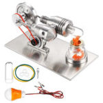 Оригинал Stainless Mini Hot Air Stirling Двигатель Мотор Модельные обучающие наборы для игрушек