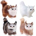 Оригинал Cute Кот Lifelike Miaow Simulation Kitty фаршированные плюшевые игрушки реалистичные украшения для домашнего стола