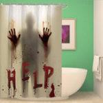 Оригинал ХэллоуинскийужасКровавыерукипомогаютВодонепроницаемы Шторы для душа Ванная комната Декор