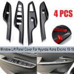 Оригинал Углеродное волокно Стиль дверной перегородки для обложки обложки для отделки наклейки для Hyundai Kona 2018-2019