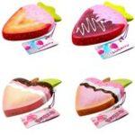 Оригинал Hoson Squishy Strawberry Peach Soft Медленно растущая фруктовая игрушка с оригинальным пакетом