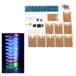 Оригинал DIY LED Flash Набор Звуковой частотный спектр Кристалл LED Лампа Набор