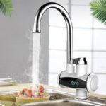 Оригинал 220V 3000W Электрический кран Мгновенная горячая вода Нагреватель Нажмите Начало Ванная комната Кухонный кран