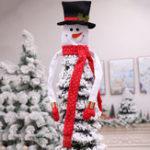 Оригинал 120x94cmРождественскаяелкаСнеговикHangOn Ornaments Free Style Party Decorations