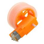 Оригинал 3Pcs Оранжевые резиновые колеса + 3-6v TT Motors DIY Набор Для Arduino Smart Chassis Авто Аксессуары