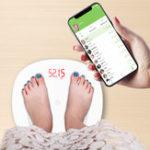 Оригинал GASONS6ЭлектронныйцифровойШкала13 Языки Высокая точность Вес Шкала Smart LED Цифровой вес Шкала Поддержка Bluetooth APP Android или IOS