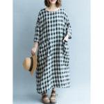Оригинал Женское Длинный рукав с капюшоном Kaftan Loose Casual Maxi Платье