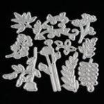 Оригинал 10 в 1 Дерево Maple Лист Листья Режущие штампы DIY Альбом для вырезок фотоальбомов Hand Craft