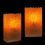 Оригинал 10PCS Sunshine Paper Lantern Candle Сумка Чай Свет держатель для Рождества Свадебное Домашнее украшение