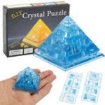 Оригинал Творческий IQ 3D Crystal Puzzle Jigsaw Игрушечные блоки Сборка пирамиды Модель DIY Игрушки