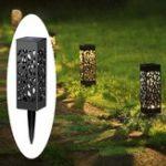 Оригинал Солнечная Power Light Датчик Hollow Out Lawn Лампа Водонепроницаемы Pathway На открытом воздухе Сад Landscape Light
