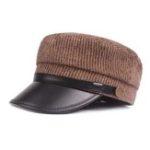 Оригинал Unisex Winter Винтаж Stripes Navy Шапка Classic Куриные шапки