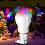 Оригинал AC220V 5W RGB LED Рождественская лампа проекции с адаптером E27 для DJ Party Holiday Festiva