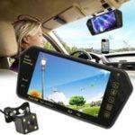 Оригинал 7 дюймов TFT LCD Bluetooth Авто Зеркало для парковки сзади Монитор + реверс Авто камера