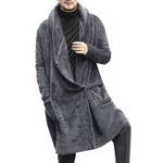 Оригинал ChArmkpRМужчиныMid-longBreathableфлисComfy с капюшоном пальто