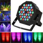 Оригинал 36W 36LED RGB Voice-activated DMX512 Stage Light Лампа Клуб для DJ Disco Party Effect AC110-220V