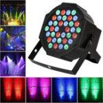 Оригинал 36W 36LED RGB Voice-activated DMX512 Stage Light Лампа Клуб для DJ Disco Party Effect AC110-220V
