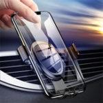Оригинал USAMSСплавАвтоДержательдлятелефона на 360 ° Вращающийся воздухозаборник для стеклянной панели для iPhone XS / Xiaomi