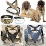Оригинал Unisex New Spiked Studded Leather Собака Harness Tactical Collar Leash Set Pitbull Mastiff Training Fraim