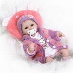 Оригинал Реалистичный 40см новорожденный ручной работы Lifelike Новорожденный ребенок Кукла Reborn Soft Силиконовый Винил Волосы Корневой подарок для девуш
