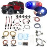 Оригинал LED Передние + задние фонари + IC Лампа Группа + Полицейский свет + кабель для TRAXXAS Trx4 RC Авто Запчасти