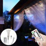 Оригинал DC5V USB DIY Фейерверк Starburst 120 LED Sliver Fairy String Light Дистанционное Управление Рождественский декор
