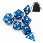 Оригинал 7Pcs Цинковый сплав Полиэдральные кубики DND RPG MTG Ролевая игра с хранилищем Сумка